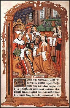The Marriage of Mary Tudor and Louis XII of France.  Mary danced her besotted husband to death, then stole a French Crown Jewel (known as the Mirror of Naples) and bribed her brother, Henry VIII, with it after she married Charles Brandon, Duke of Suffolk, for love.  Mary, her sister Margaret & brother Henry all married for love -- in an age when royalty was expected to marry for state purposes.