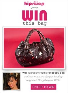 Win This Bag Giveaway by HipSwap: Karina Smirnoffs Fendi Handbag! #WinThisBag Ends 7/1/12 WW/Sidetracked Moms Blog giveaways-on-sidetracked-mom-s-blog