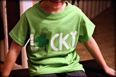 *Lucky* T-Shirts - again no templates, but should be able to find free applique shapes doing internet search