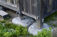 Foundations of traditional Japanese house.