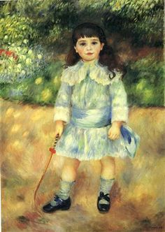 Child with a Whip - Pierre-Auguste Renoir / Completion Date: 1885