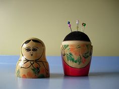 Um, definitely need to find a doll and make myself a pincushion babushka doll.