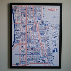 "Image of South Loop Map 22"" x 28"""