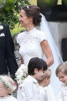 20 May 2017 - Pippa Middleton's gorgeous wedding day hairstyle. Pippa Middleton's Wedding Dress: So Many Pictures!   Glamour UK