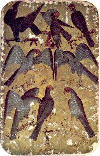 Stuttgart Playing Cards - 8 of Falcons, c.1430