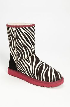 Zebra Print Uggs....ummmmm I totally want these!!!!