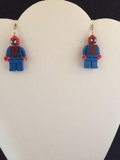 Mini Figure Handmade Spider-Man  Earrings