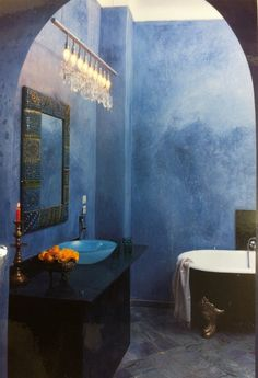 Tadelakt a beautiful Moroccan plaster finish that is soft and exotic that can be sealed to become water proof great for wet room, spas and swimming pool to name but a few applications of this evocative plaster finish