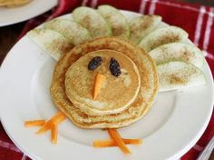 :) apple spice pancakes -dressed up (children thanksgiving food)