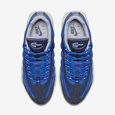 buy online 2cb62 95c5c Chaussure Nike Air Max 95 Pas Cher Homme Essential Obsidienne Foncee Hyper  Cobalt Bleu Cotier Gris Loup