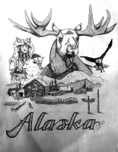 Sketchbook | Portfolio Alaska moose drawing