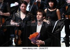Moscow, Russia. 22nd Nov, 2019. MOSCOW, RUSSIA - NOVEMBER 22, 2019: French pianist Alexandre Kantorow (L) and Russian conductor Alexander Sladkovsky during a gala concert at the 15th Crescendo Music Festival in the Large Hall of Zaryadye Concert Hall. Sergei Karpukhin/TASS Credit: ITAR-TASS News Agency/Alamy Live News Stock Photo: 333573037 - Alamy News Agency, Moscow Russia, Live News, Concert Hall, Conductors, November, French, Stock Photos, Music