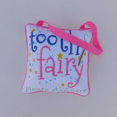 Pink Tooth Fairy Pillow - pinned by pin4etsy.com