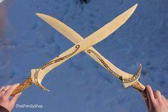Orcrist Wooden Sword Dawarf Thorin Oakenshield by FunnyFarmToyBarn