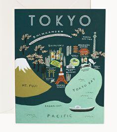 Tokyo Map Card