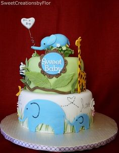 Safari Baby Shower  Cake by SweetCreationsbyFlor