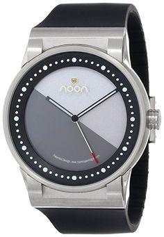 Noon copenhagen 28001S1 - Reloj unisex de cuarzo, correa de silicona color negro