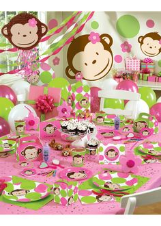 Amelia's first birthday party theme. Can't believe my little chunky monkey is turning one in a few short weeks!