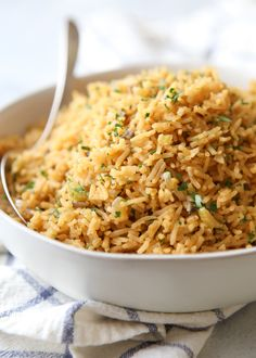 easy rice pilaf This classic rice pilaf recipe makes a great side dish! Rice Side Dishes, Side Dishes Easy, Side Dish Recipes, Rice Recipes, Food Dishes, Cooking Recipes, Main Dishes, Recipies, Cookbook Recipes