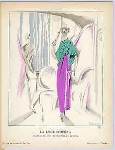 """Pierre Mourgue, Gazette du Bon Ton """"La Loge D'Opera"""" in Art, Art from Dealers & Resellers, Prints   eBay"""