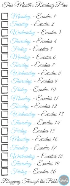 January's Bible Reading Plan - Printable Bookmark - Join us!