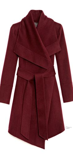 Donna Karan ● Belted Draped Cashmere Coat