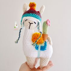 Best 12 *English Crochet Pattern *Español Patrón de crochet *Level: INTERMEDIATE/HARD *Nivel: MEDIO/AVANZADO Directly from Peru, Pacha llama came to make you happy! When made with the materials described in the PDF, the llama measures approximately Crochet Animal Patterns, Stuffed Animal Patterns, Crochet Patterns Amigurumi, Crochet Animals, Crochet Dolls, Knitting Patterns, Amigurumi Doll, Cute Crochet, Crochet Crafts