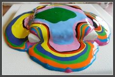 Side-view of a Holton Rower-inspired classroom auction project for a school fundraiser.