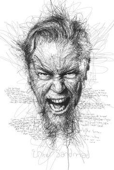 James Hetfield by Vince Low