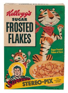 1950's Sugar Frosted Flakes cereal box