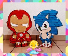 Birthday Party Decorations, Paper Mache, Chibi, Sculptures, Parties, Superhero, Cute, How To Make, Handmade
