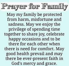A family prayer faith prayer family quotes family prayers family blessings Prayer Scriptures, Bible Prayers, Faith Prayer, God Prayer, Catholic Prayers, Prayer Room, Prayer For My Family, Family Prayer Quotes, Morning Prayer For Family