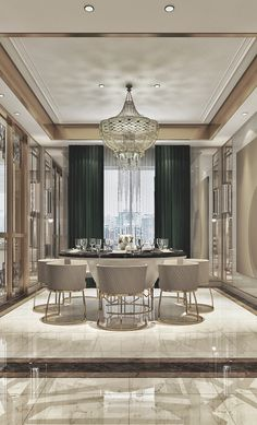 dining room 656047870698853057 - 40 Ripping Luxury Dining Room Design Ideas Source by redomeez Elegant Dining Room, Luxury Dining Room, Luxury Living Room, Luxury Interior, Dining Room Design Luxury, Dinning Room Design, Modern Dining Room, Luxury Rooms, Room Design
