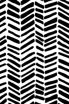 Modern and simple - black and white paint strokes design by leanne.  Available on fabric, wallpaper, and gift wrap.