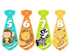 Monthly Onesie Tie Stickers Baby Boy Tie Stickers Month to Month Stickers Baby Shower Gift Baby Month Stickers Photo Prop 390