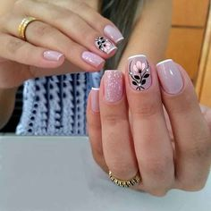 Pretty Nail Designs, Best Nail Art Designs, Fabulous Nails, Perfect Nails, Cute Nails, Pretty Nails, Belle Nails, Nail Art Design 2017, Romantic Nails