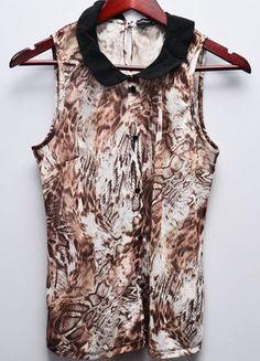 Kup mój przedmiot na #vintedpl http://www.vinted.pl/damska-odziez/koszule/8828998-koszula-z-kolnierzykiem-na-guziki-motyw-skora-weza-print