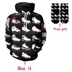 53f49fb9b3e PLstar Cosmos 2018 New Fashion Hoodies Men Women Sweatshirts Jordan 23  Classic Shoes 3D Print Unisex Streetwear Tracksuits. Yesterday's price: US  $25.74 ...