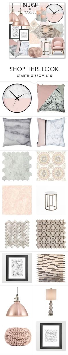 SOFT and Sleek by jckallan on Polyvore featuring interior, interiors, interior design, home, home decor, interior decorating, Bloomingville, Brewster Home Fashions, Currey  Company and homedecor