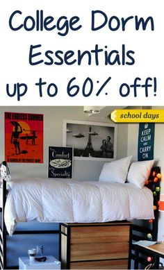 College Dorm Essentials Sale ~ up to 60% off!   Repinned by www.movinghelpcenter.com Follow us on Facebook! #moving