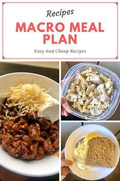 Macro Meal Plan For Beginners - Healthy meal prep on a budget Easy Healthy Dinners, Healthy Meal Prep, Easy Healthy Recipes, Frugal Meals, Dinner Healthy, Freezer Meals, Health Recipes, Eat Healthy, Macro Meal Plan