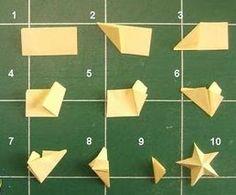 Mini étoile origami 3D