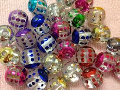 10pc 20mm Assorted Beatles Polka Dot Gumball Chunky Bubblegum Beads Bracelet Earrings Necklace Beading Supplies PPP15