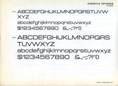 Eurostile Extended type specimen