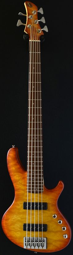 Little Guitar Works Torzal Bolt-on 5 (via Bass Direct) | A stunning example of these revolutionary basses that use a twist from the bridge to the head which puts your fretting hand in a far more comfortable position and helps reduce RSI and other arm and wrist related problems.