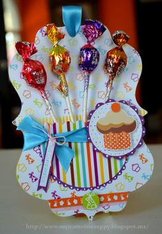 Birthday with lollipops-great idea