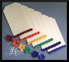 Crocheted Tag's and Flower's For Sale...