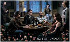 Six Feet Under d'Alan Ball.  Avec Peter Krause, Michael C.Hall, Frances Conroy...