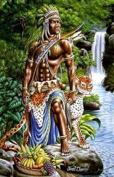 African American Art, Native American Art, Black Girl Art, Art Girl, Yoruba Orishas, African Mythology, Yoruba Religion, Black Art Pictures, Africa Art