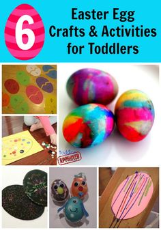Toddler Approved!: 6 Easter Egg Crafts & Activities for Toddlers